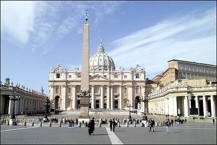 Italy, Rome - St. Peter Square with cathedral