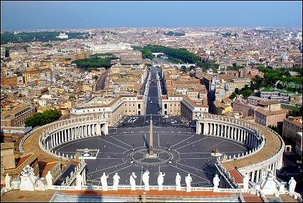 Italy, Rome - View from the roof of St. Peter