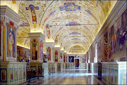 Italy, Rome - Painted ceilings and walls in the Vatican Museum