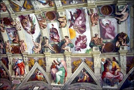 Italy, Rome - Ceiling of the Sixtine Chapel
