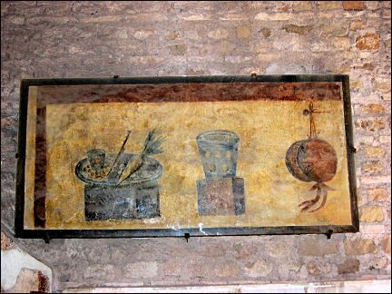Italy, Rome - Ostia, bar with fresco