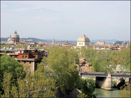 Italy, Rome - View from Aventine Hill