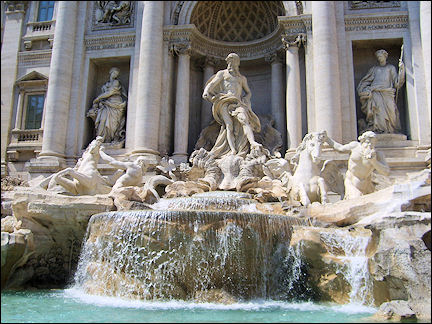Italy, Rome - Trevi fountain