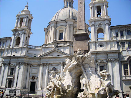 Italy, Rome - Saint'Agnese in Agone on Piazza Navona