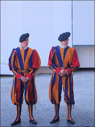Italy, Rome - Swiss Guard in Vatican City