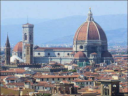 Italy, Florence - View of the Duomo