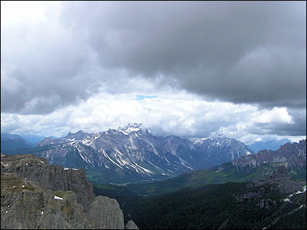 Italy, Dolomites - View from Lagazuoi mountain