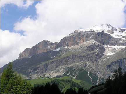 Italy, Dolomites - View on the mountains above Arraba