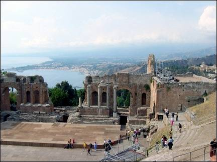 Italy, Sicily - Taormina, Greek theater