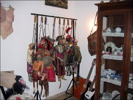 Italy, Sicily - Makari, typical Sicilian dolls in hotel