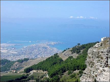 Italy, Sicily - Erice, view of Trapani