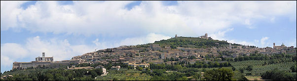 Italy, Umbria - View on Assisi