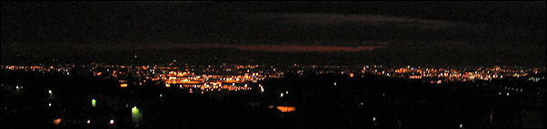 Italy, Tuscany - Fiesole, the lights of Firenze