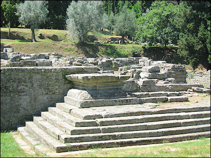 Italy, Tuscany - Fiesole, ruins Etruscan temple