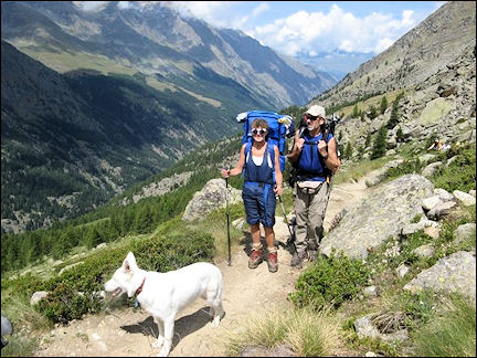 Italy, Valle d'Aosta - On the way to the Chabod Hut