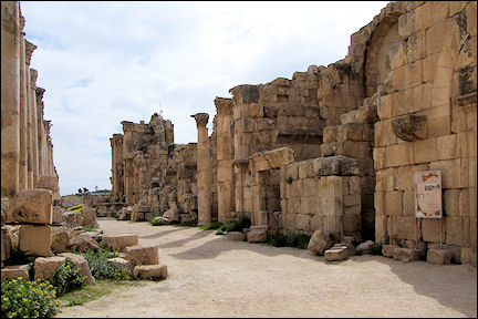 Jordan, Jerash - Ruins of the ancient Roman city of Gerasa