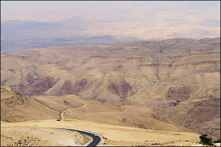 Jordan, Mount Nebo - View direction Israel