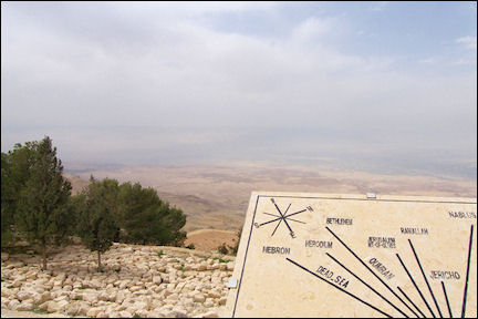 Jordan, Mount Nebo - Traffic sign