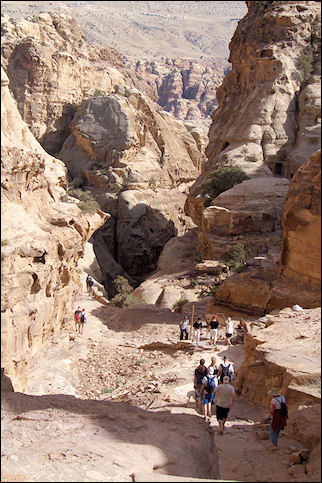 Jordan, Petra - Accessroad to the monastery