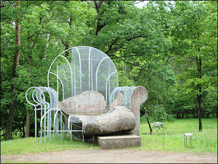 Lithuania, Europos Parkas - Chair by Dennis Oppenheim
