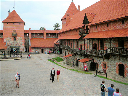 Lithuania, Trakai - Courtyard island castle