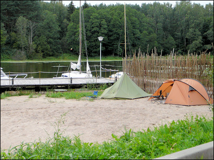 Lithuania - Camping near a motel on a pretty lake