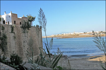 Morocco - Rabat, medina wall and Wadi Bou Regreg