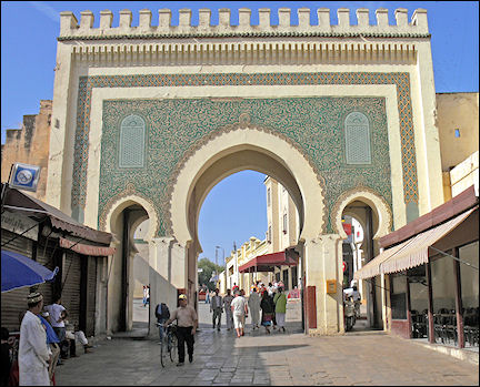 Morocco - Fès, Bab Boujloud gate of the medina