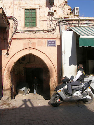 Morocco, Marrakech - Entrance alley to hotel