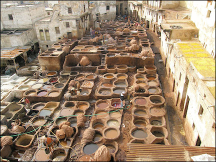 Morocco, Fès - Tanneries