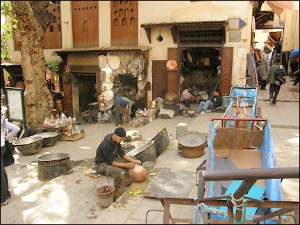 Morocco, Fès - Coppersmiths