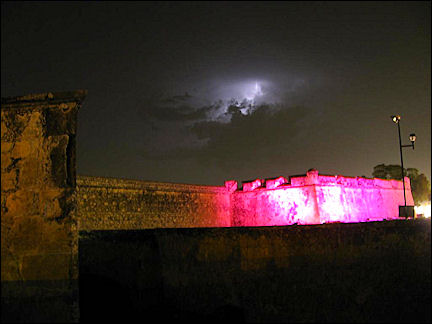 Mexico - Light show and thunderstorm at Puerto de Tierra in Campeche