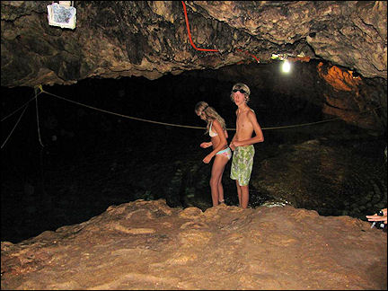 Mexico - Swimming in the underground Holca pond