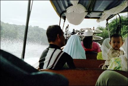 Malaysia - Bikes on the boat to Dabong