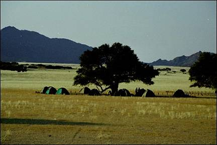 Namibia - Camping site in Sesriem