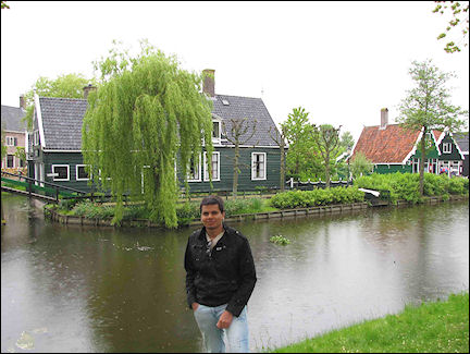 Netherlands, Amsterdam - Well-preserved 17th century houses at Zaanse Schans