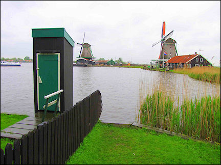 Netherlands, Amsterdam - Historic windmills at Zaanse Schans