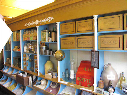 Netherlands, Amsterdam - Reconstructed 19th century grocery store at Zaanse Schans