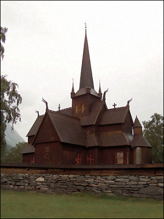 Norway - Lom, stave church
