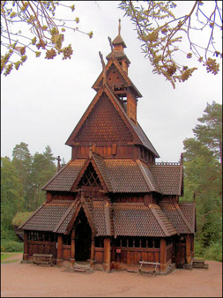 Norway - Oslo, Norsk Folkemuseum, stave church Gol