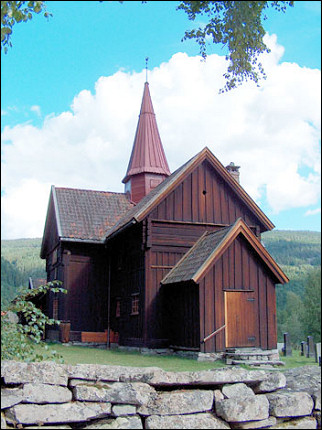 Norway - Stave church Rollag