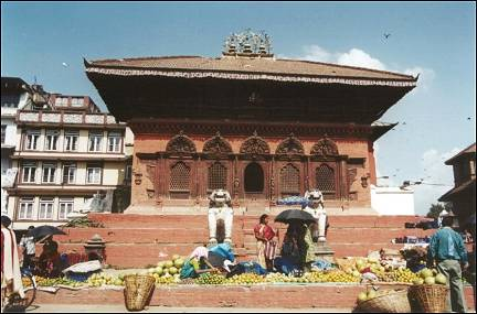 Nepal, Ganesh Himal Trek - Temple on Durbar Square