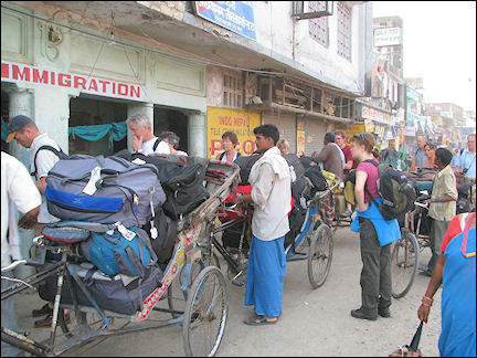 Nepal - Rickshaws at the Indian-Nepalese border