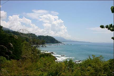 Panama - Dominical, view of the Pacific