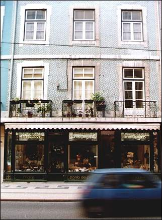 Portugal, Lisbon - Store with azulejos in Baixa-Chiado