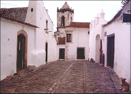 Portugal, Alentejo - Main street, Monsaraz
