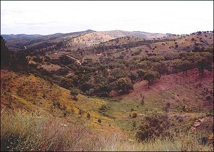 Portugal, Alentejo - The mountains that separate the Algarve from the Alentejo