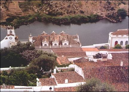 Portugal, Alentejo - Mertola and the Rio Guadiana from the castelo