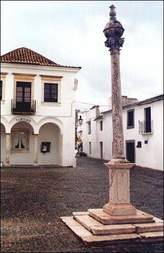 Portugal, Alentejo - Monsaraz, on the square is a pelourinho