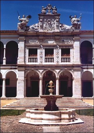 Portugal, Alentejo - Evora, double cloister of the old university
